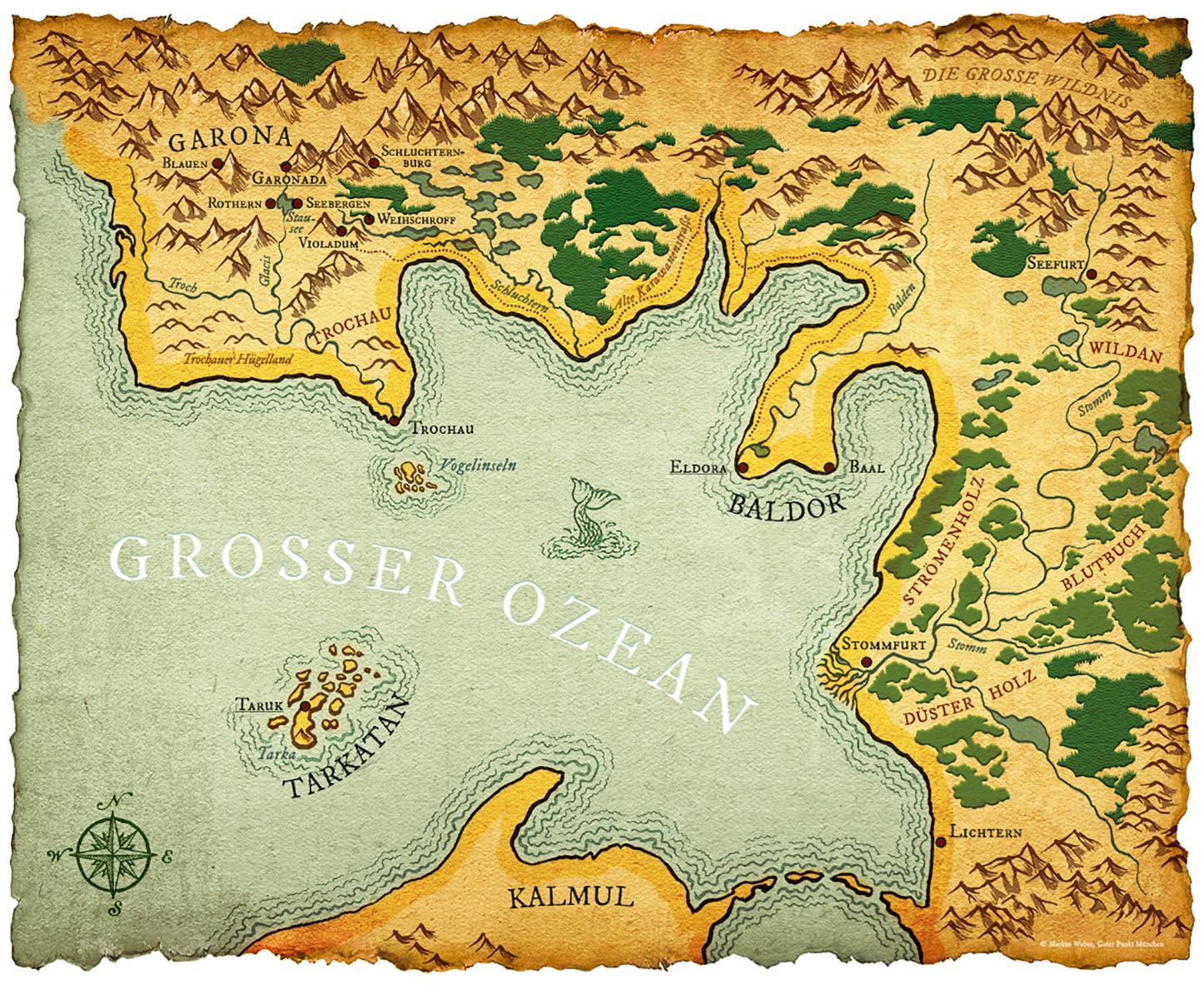 Fantasy Karte.Illustration Guter Punkt