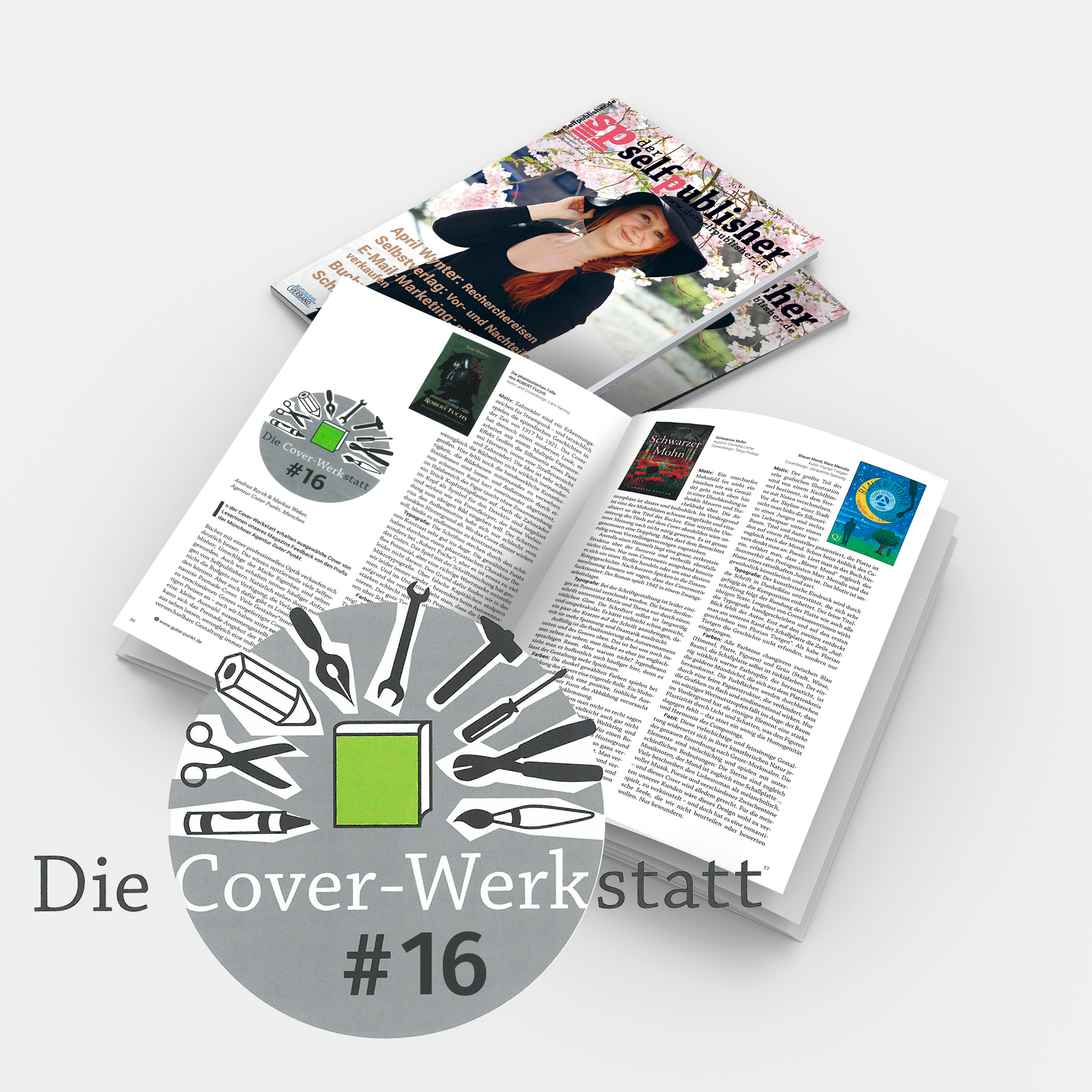 Coverwerkstatt #16 in »der-selfpublisher« Nr. 21, März 2021